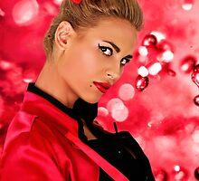 Blonde Fashion Girl Portrait Fine Art Print by stockfineart