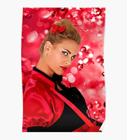 Blonde Fashion Girl Portrait Fine Art Print Poster
