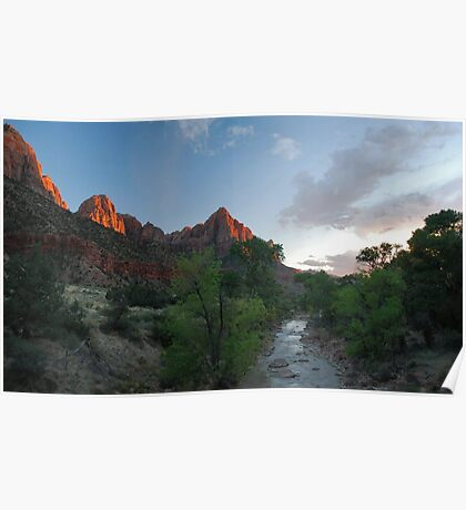 Zion Alpenglow Poster