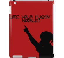 Use your fookin nooodle red iPad Case/Skin