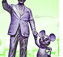 Walt and Mickey Samsung Galaxy Cases and Skins Green by kellyblackie