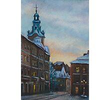 Lviv, Rynok sqr. at evening Photographic Print