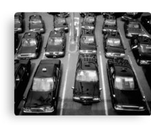 Taxicabs - Toyko Canvas Print
