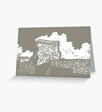 Etruscan Wall Greeting Card