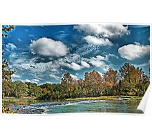 Spring River In the Fall Poster