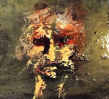 october portrait. oil on wood. 11'' x 11'' by adam sturch