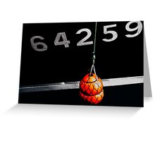 boat reference number Greeting Card