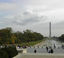 View Over Drained Reflecting Pool by Robert Arconti