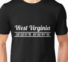 West Virginia - State Coordinates Unisex T-Shirt