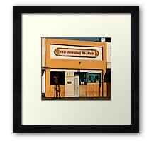 #10 Downing St. Pub Framed Print