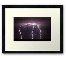 Toowoomba Lightning Framed Print