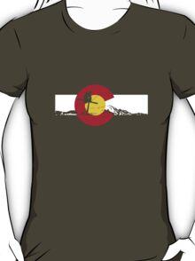 Skier - Colorado Flag - Iron Cross T-Shirt