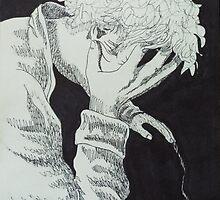 8 hours, 10 minutes, 52 seconds. 9''x12''. pen on paper. adam sturch. by adam sturch