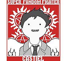 Super Fandom Fighter - Castiel Photographic Print