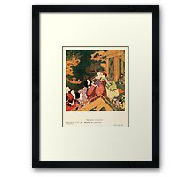 Fairy book Fairy Tales of the Allied Nations - 1917 - Edmund Dulac - 0209 - The Green Serpent Framed Print