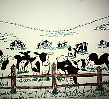 Cows in field by Kayleigh Lamb