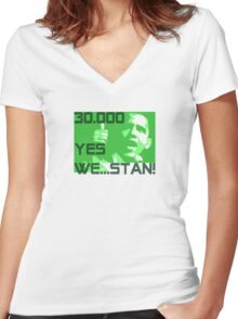 YES WE ...STAN! Women's Fitted V-Neck T-Shirt