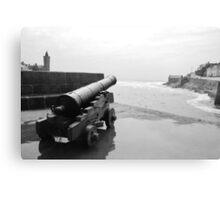 Guns of Porthleven Canvas Print