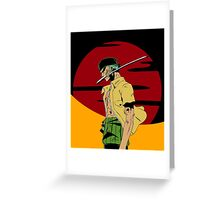 The Swordsman Of The Straw Hat Crew Greeting Card