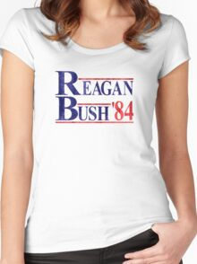Reagan Bush '84 Election Vintage  Women's Fitted Scoop T-Shirt