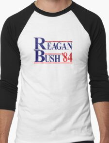 Reagan Bush '84 Election Vintage  Men's Baseball ¾ T-Shirt
