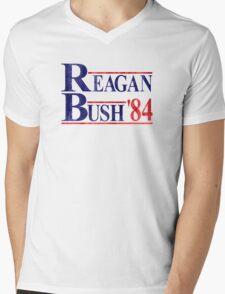 Reagan Bush '84 Election Vintage  Mens V-Neck T-Shirt