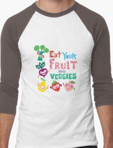 Eat Your Fruit & Veggies  Men's Baseball ¾ T-Shirt