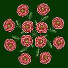 Red Flower Mandala by SusanSanford