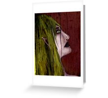 Elf In Wood Greeting Card