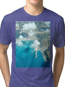 an inspiring Sint Maarten landscape Tri-blend T-Shirt