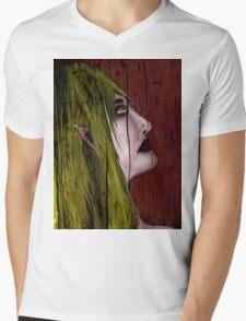 Elf In Wood Mens V-Neck T-Shirt
