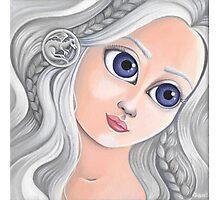Daenerys Targaryen with Big Eyes Photographic Print