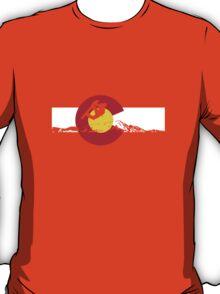 Snowboarder - Colorado Flag T-Shirt