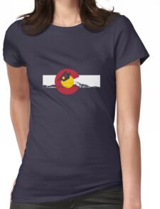 Snowboarder - Colorado Flag Womens Fitted T-Shirt