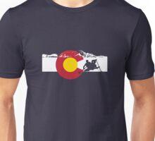 Whitewater Rafting - Colorado Flag Unisex T-Shirt