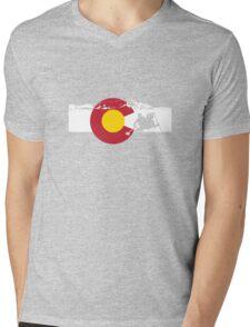 Whitewater Rafting - Colorado Flag Mens V-Neck T-Shirt
