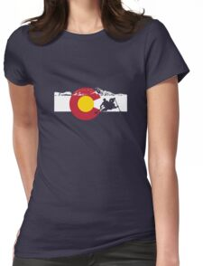 Whitewater Rafting - Colorado Flag Womens Fitted T-Shirt