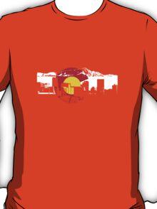 Denver Skyline - Colorado Flag T-Shirt