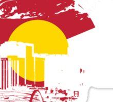 Denver Skyline - Colorado Flag Sticker