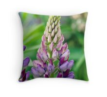 Lupin Flower Throw Pillow