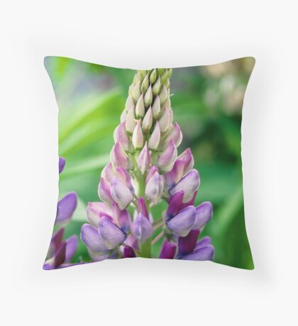 Lupin Flower Throw Pillow