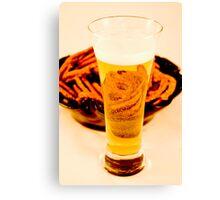 Beer & Pretzels Canvas Print
