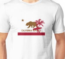 Surfer & Palm tree - California Flag Unisex T-Shirt