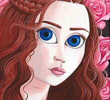 Sansa Stark with big eyes by hellbereth