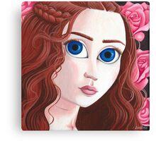 Sansa Stark with big eyes Canvas Print