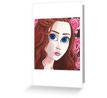 Sansa Stark with big eyes Greeting Card