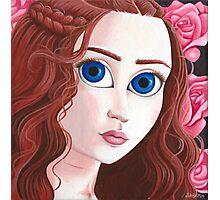 Sansa Stark with big eyes Photographic Print
