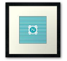 Monogram N Framed Print