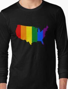 AMERICA USA GAY MARRIAGE PRIDE MAP Long Sleeve T-Shirt