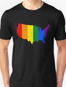 AMERICA USA GAY MARRIAGE PRIDE MAP T-Shirt